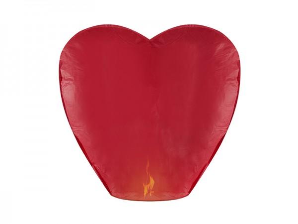 Paris Dekorace Létající přání červené srdce, 38x70x102cm