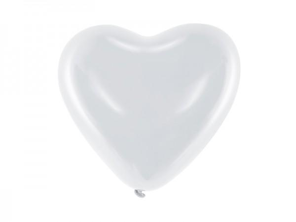 Paris Dekorace Balónky srdce bílé