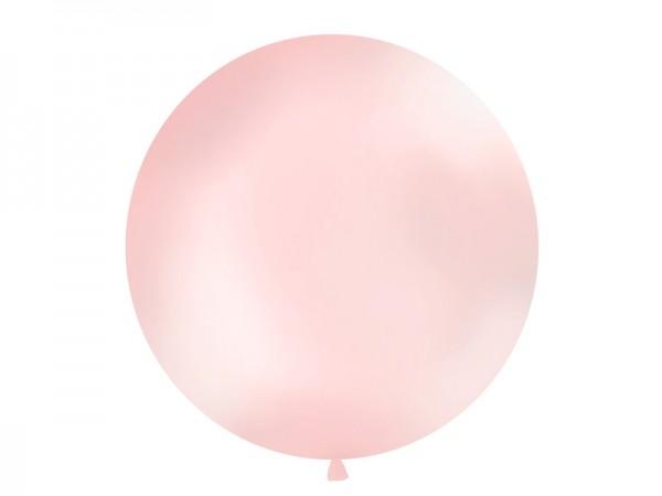 Paris Dekorace Vystřelovací balón sv. růžový  metalický