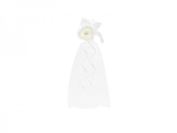 Paris Dekorace Organzová mašle bílá