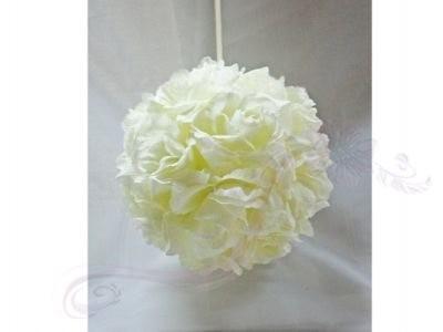 Paris Dekorace Koule plná květů, ivory, 21 cm