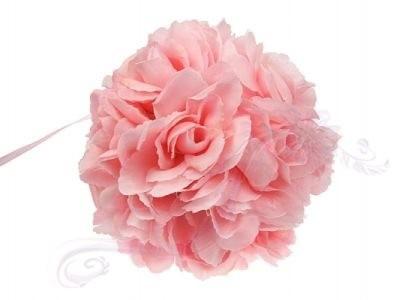 Paris Dekorace Koule plná květů světle růžová, 15 cm