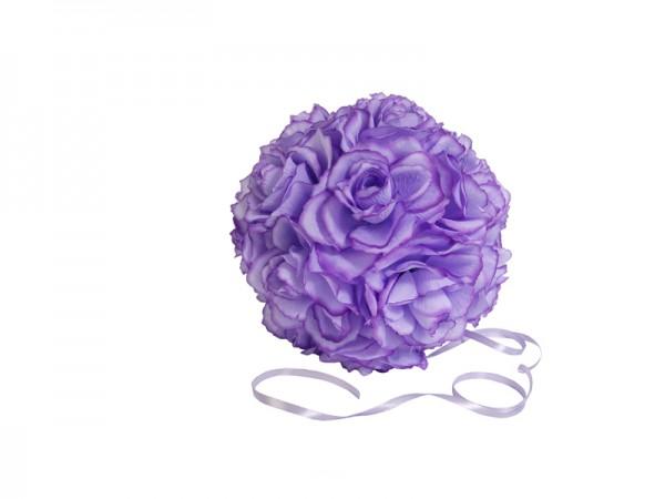 Paris Dekorace Koule plná květů, světle fialová, 21 cm