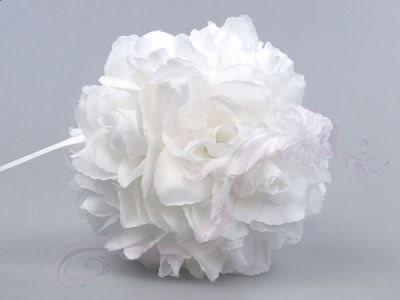 Paris Dekorace Koule plná květů bílá, 15 cm