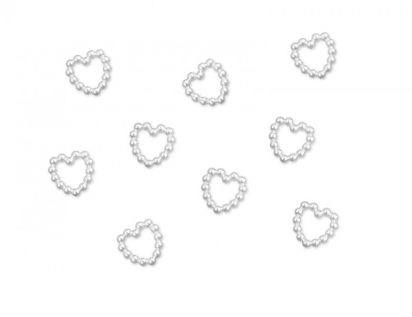 Paris Dekorace Aplikace perličková srdíčka 50 ks