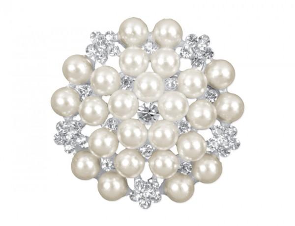 Paris Dekorace Ozdobná brož, velká perla