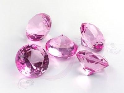 Paris Dekorace Briliantové kamínky růžové, 5 ks