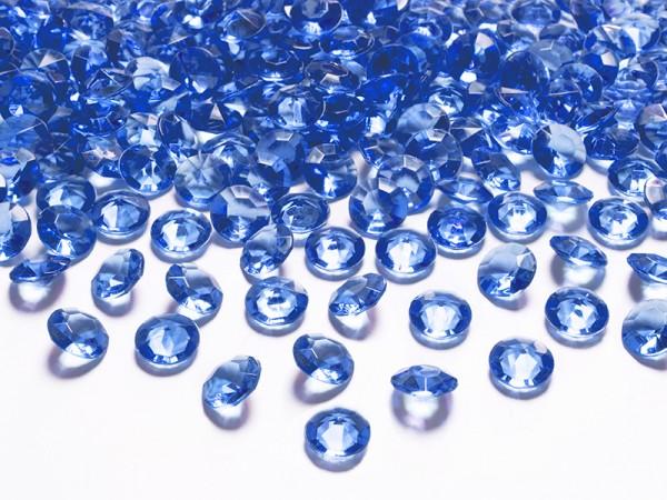 Paris Dekorace Briliantové kamínky královská modrá, 100 ks