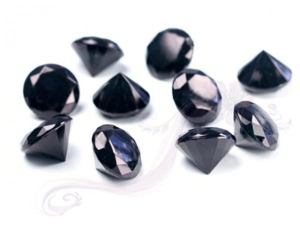 Paris Dekorace Briliantové kamínky černé, 10 ks