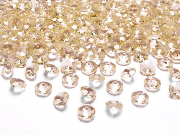 Paris Dekorace Briliantové kamínky zlaté, 100 ks