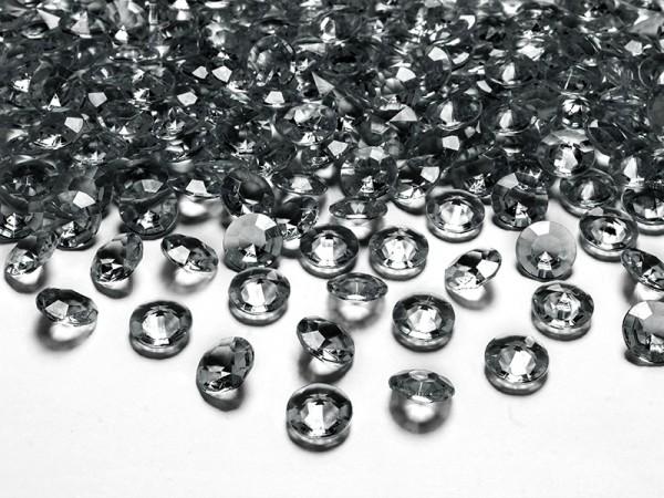 Paris Dekorace Briliantové kamínky, 12mm, šedé, 100ks