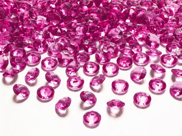Paris Dekorace Briliantové kamínky tm. růžové, 100 ks