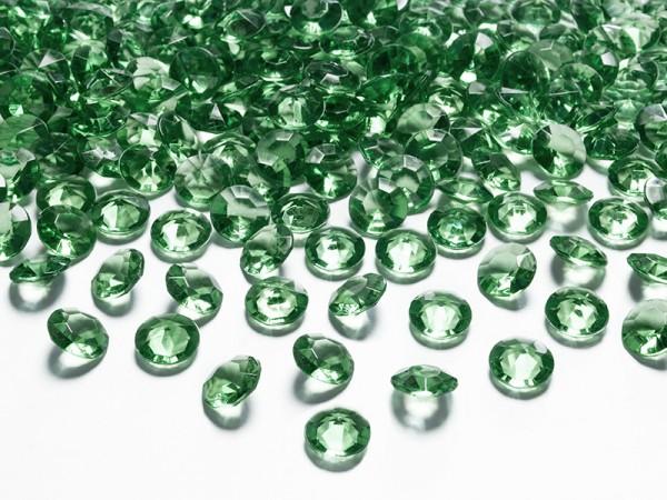 Paris Dekorace Briliantové kamínky zelené, 100 ks