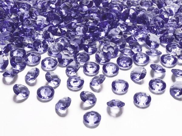 Paris Dekorace Briliantové kamínky fialové, 100 ks