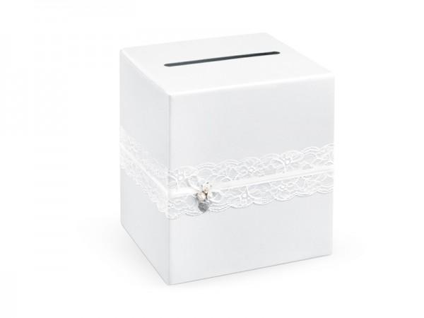 Paris Dekorace Krabice na blahopřání krajka 24x24x24cm