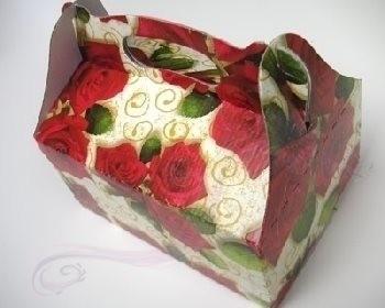 Paris Dekorace Krabička na výslužku červené růže