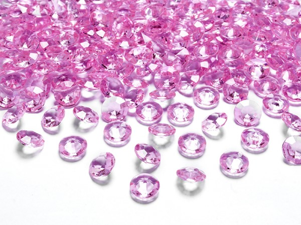 Paris Dekorace Briliantové kamínky růžové, 100 ks