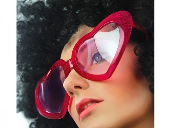 Paris Dekorace Velká srdce brýle, červené
