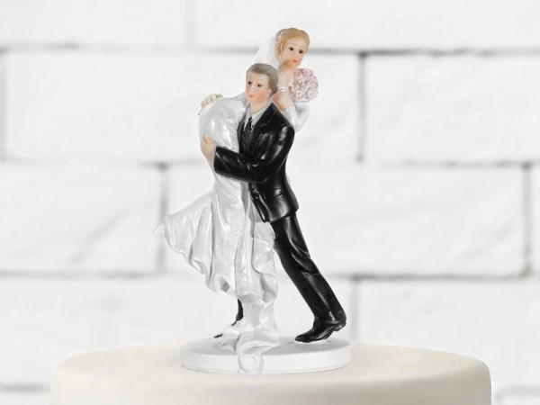 Paris Dekorace Svatební figurky nesoucí se nevěsta