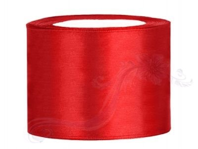 Paris Dekorace Saténová stuha červená 50mm/25m