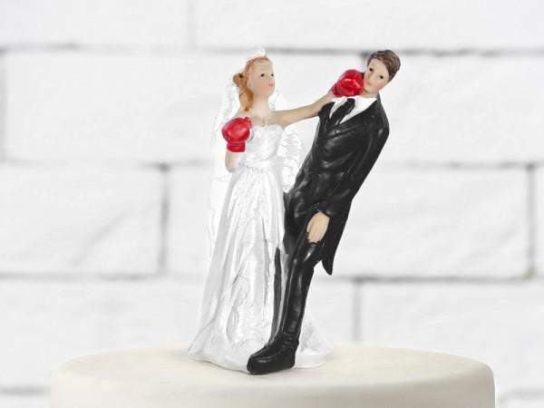 Paris Dekorace Svatební figurky boxující nevěsta
