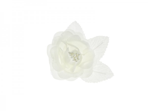 Paris Dekorace Saténové růže ivory (champagne)