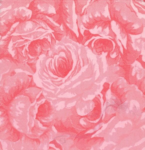 Paris Dekorace Ubrousek AIRLAID RŮŽE růžová, 50 ks