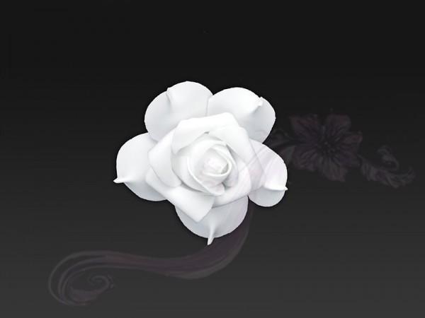 Paris Dekorace Květ decor, bílý, 7cm