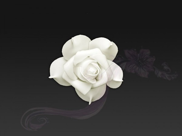 Paris Dekorace Květ decor, ivory, 7cm