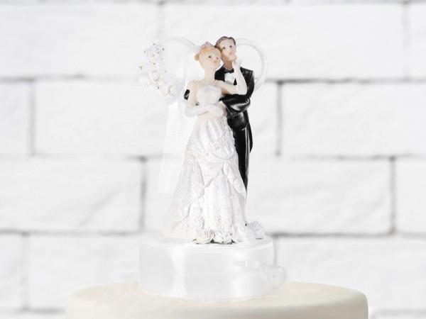 Paris Dekorace Figurka novomanželé na dort  17cm, bílá