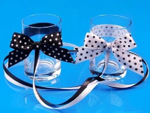 Paris Dekorace Svatební skleničky malé, puntík, 2ks