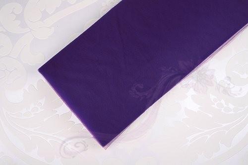 Paris Dekorace Tyl široký tenký fialový