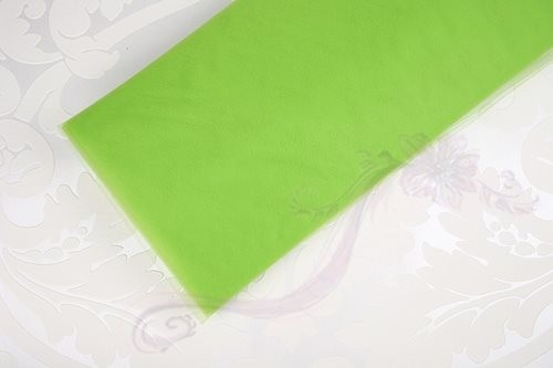 Paris Dekorace Tyl širkoký zelený