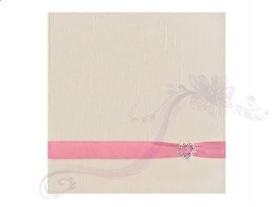Paris Dekorace Svatební album s růžovou stuhou a přezkou
