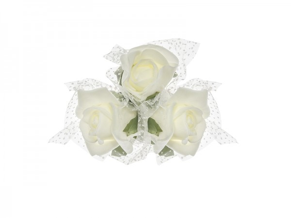 Paris Dekorace Svazek růží ivory