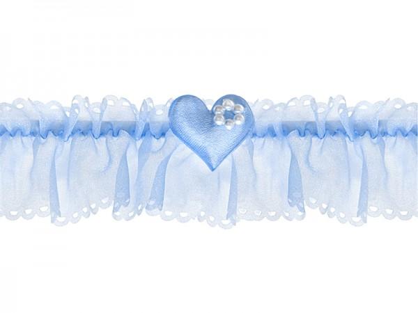 Paris Dekorace Svatební podvazek organza se srdíčkem