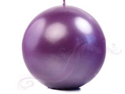 """Paris Dekorace Svíčka """"Koule"""" 100mm metalická purpurová"""