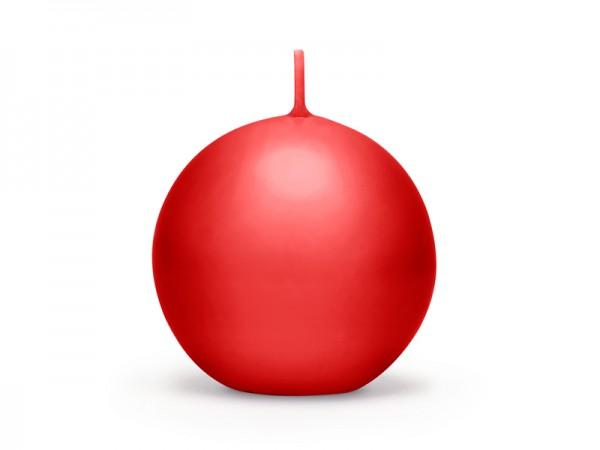 """Paris Dekorace Svíčka """"Koule"""" 60mm matná červená"""