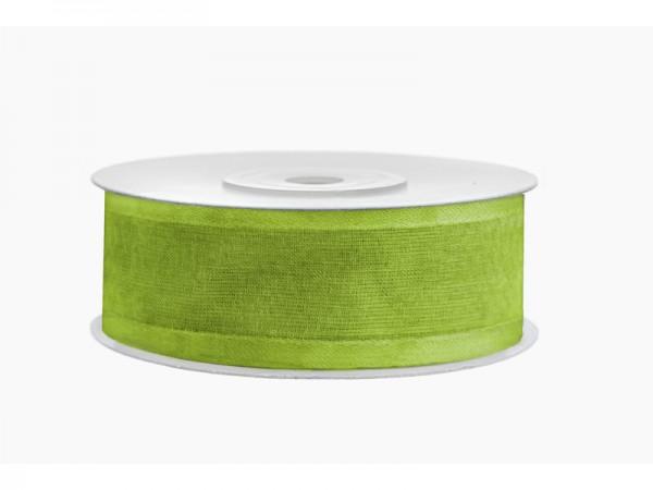 Paris Dekorace Stuha šifon zel. jablko, šířka 2,5 cm, návin 25 m