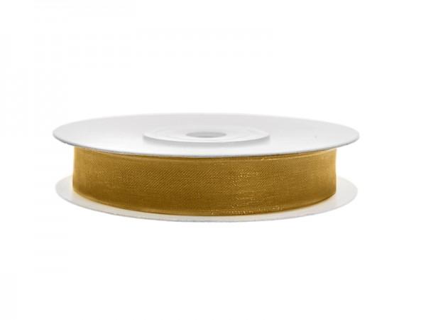Paris Dekorace Stuha šifon zlatá, šířka 0,6 cm, návin 25 m