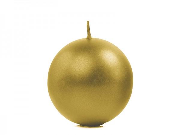 """Paris Dekorace Svíčka """"Koule"""" 60mm metalická zlatá"""