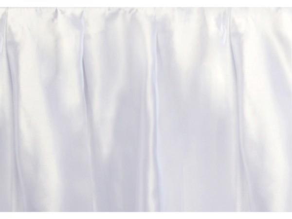 Paris Dekorace Rautová sukně saténová  75 cm x 4 m, bílá