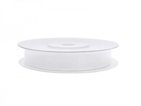 Paris Dekorace Stuha šifon bílá, šířka 0,6 cm, návin 25 m
