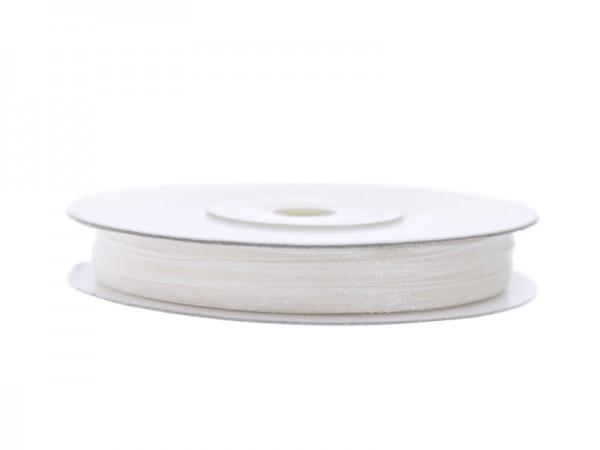 Paris Dekorace Stuha šifon bílá, šířka 0,3 cm, návin 50 m
