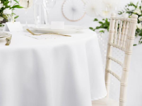 Paris Dekorace Kulatý ubrus bílý,  průměr 300 cm