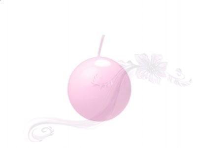 """Paris Dekorace Svíčka """"Koule"""" 45mm lakovaná světlá růžová"""