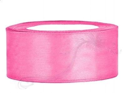 Paris Dekorace Saténová stuha  růžová, 25mm/25m