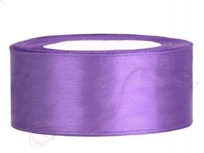 Paris Dekorace Saténová stuha lila, 25mm/25m