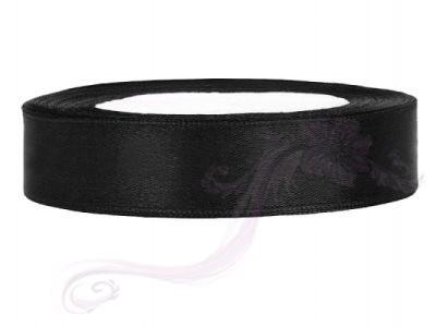 Paris Dekorace Saténová stuha černá, 12mm/25m