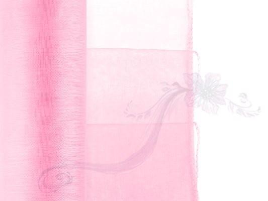 Paris Dekorace Organza světle růžová, 38cm/9m
